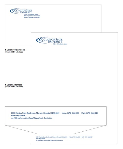 Clayton State University One Color Stationery
