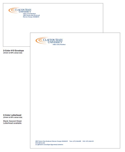 Clayton State University Two Color Stationery