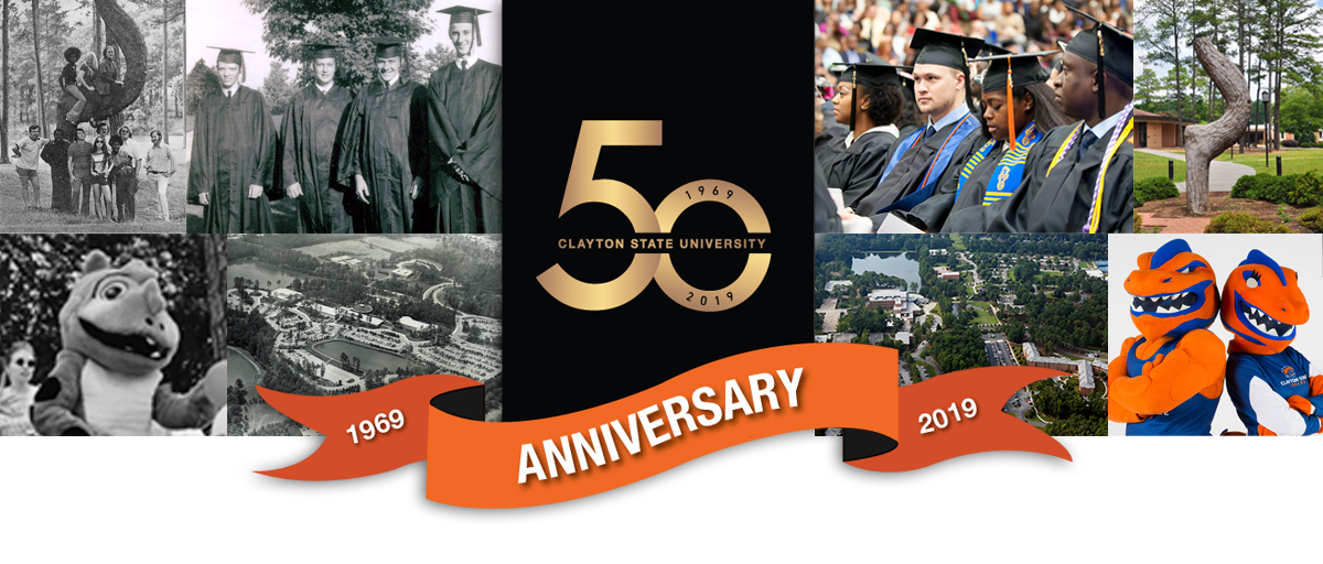 Clayton State Univeristy 50th Banner