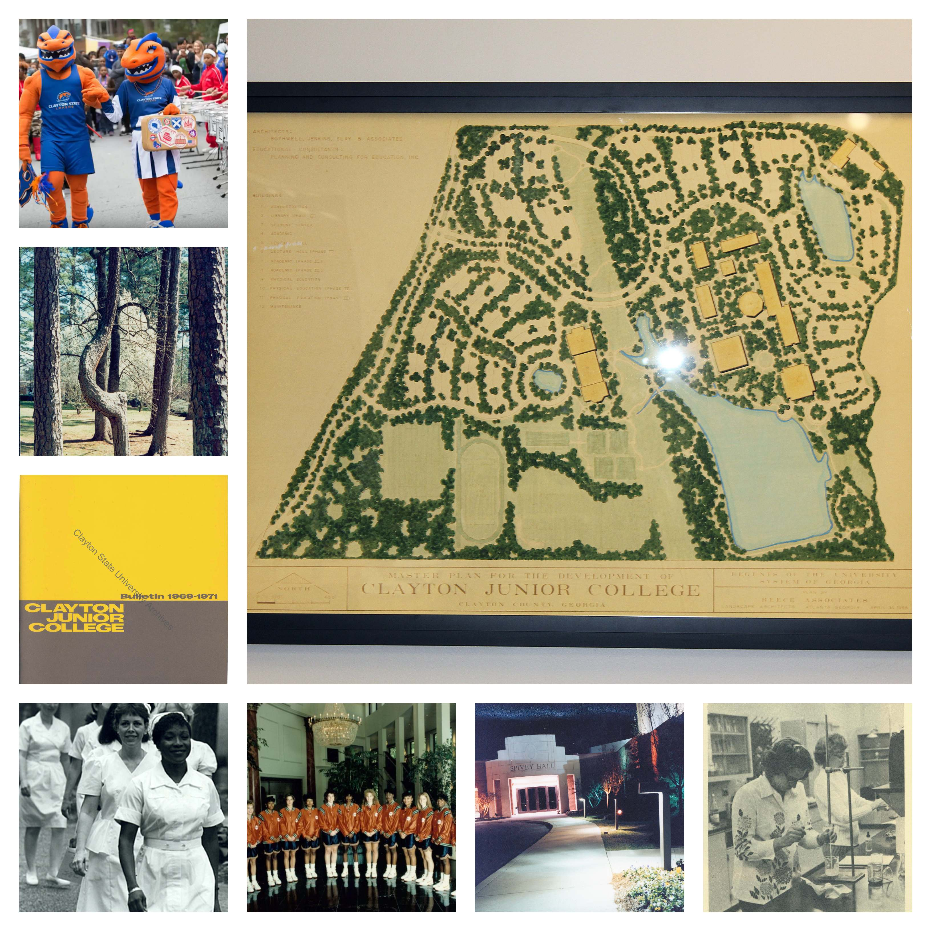 Collage photo of items from the CSU Archives holdings