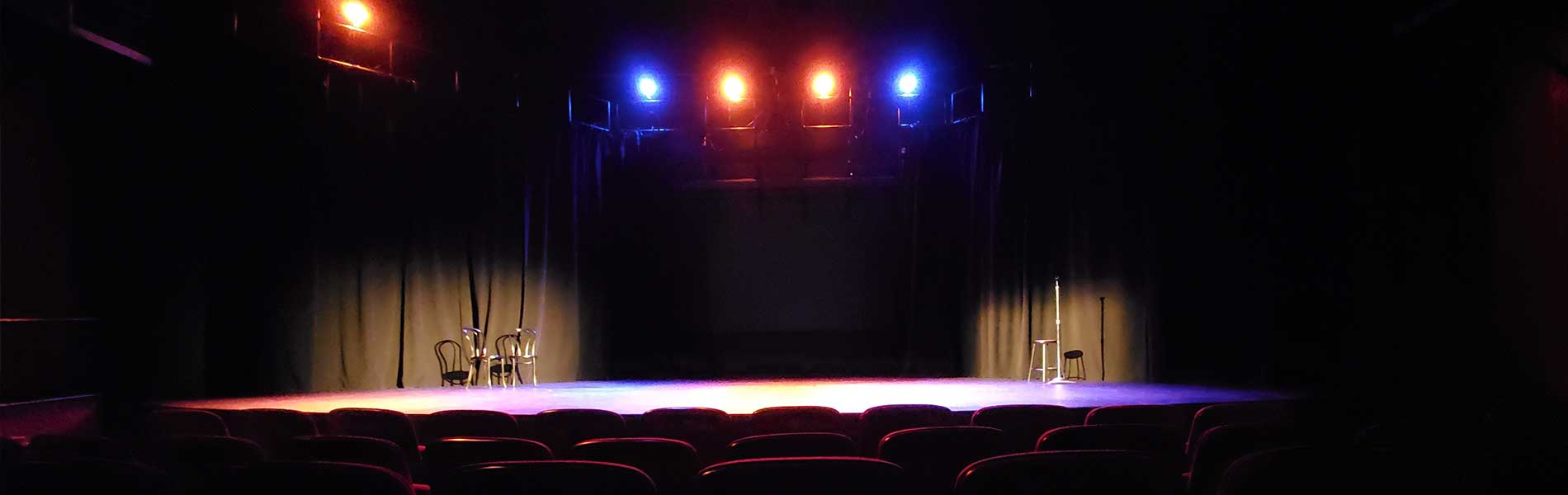 The Crescent Theatre is Clayton State University's theatrical stage featuring productions by students in the Theatre program. This beautifully renovated 149 seat theatre serves as a performance and classroom space. banner image