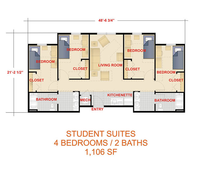 Student Suite Room Plan