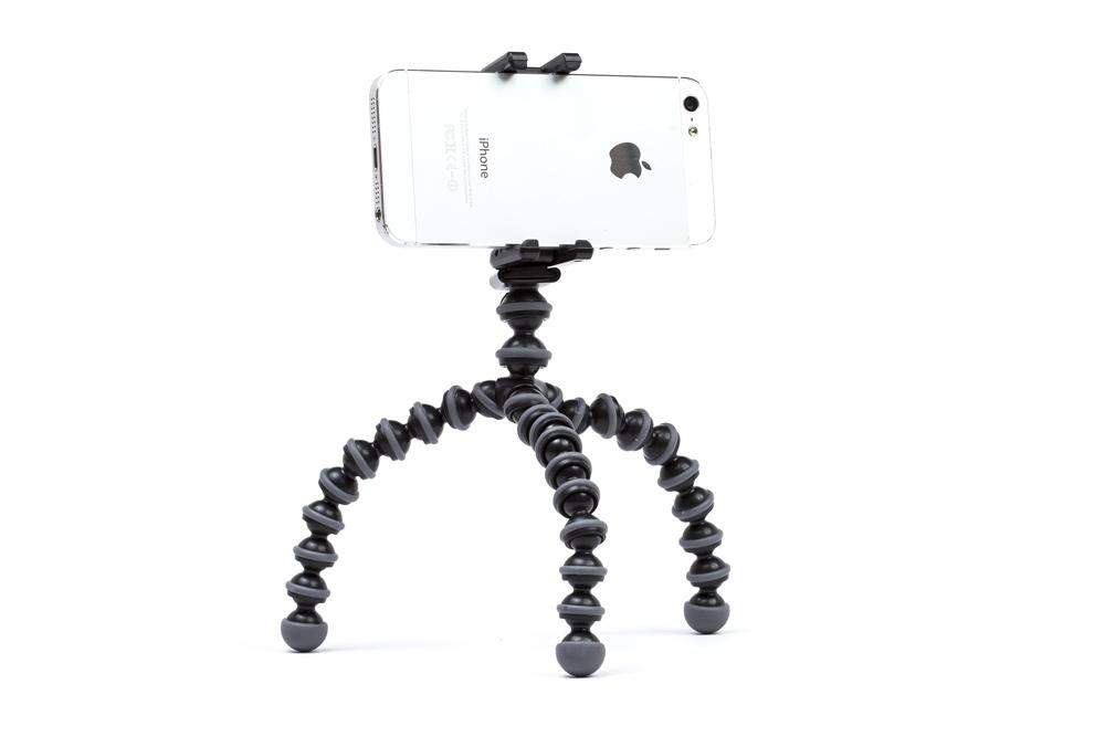 Smart phone tripod for easy video capture.