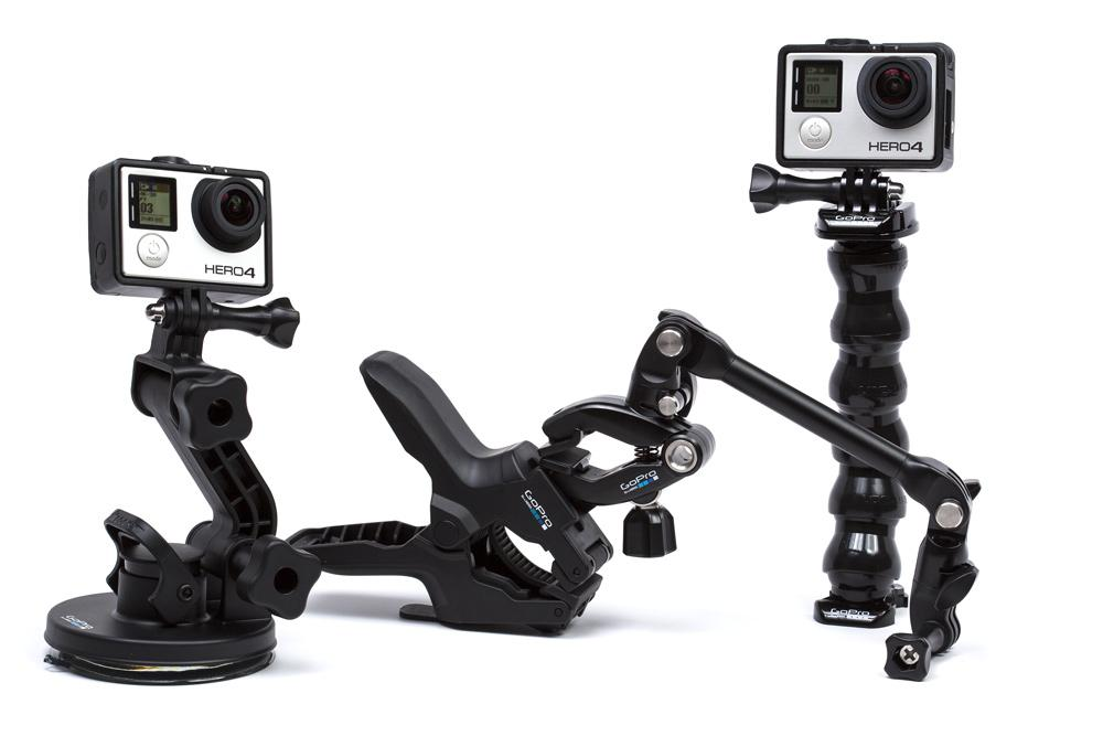 Mounting solutions for action cameras.