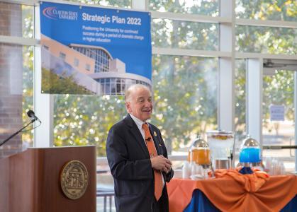 Hynes discussing Strategic Plan