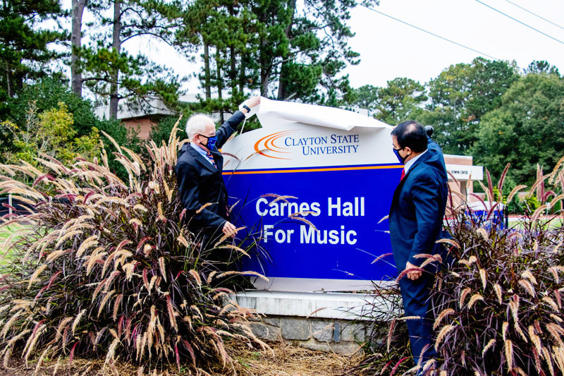 Music Education Building Sign