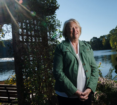 Jerri Hager by the lake