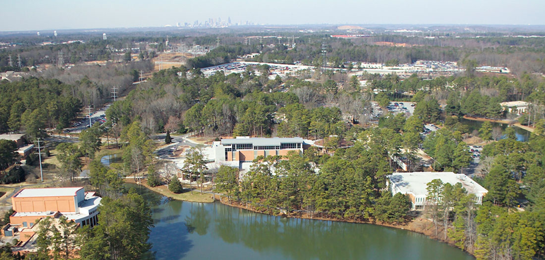 Aerial of Clayton State campus